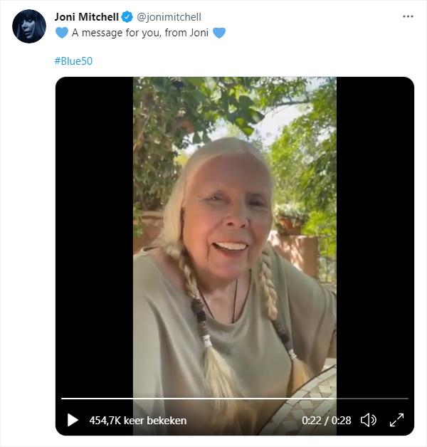 Joni Mitchell - Twitter boodschap 23-06-2021 17:03 (twitter.com)