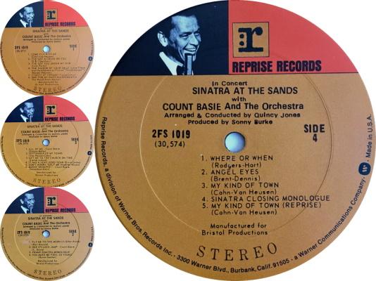 Frank Sinatra - Sinatra At The Sands vinyl (discogs.com)