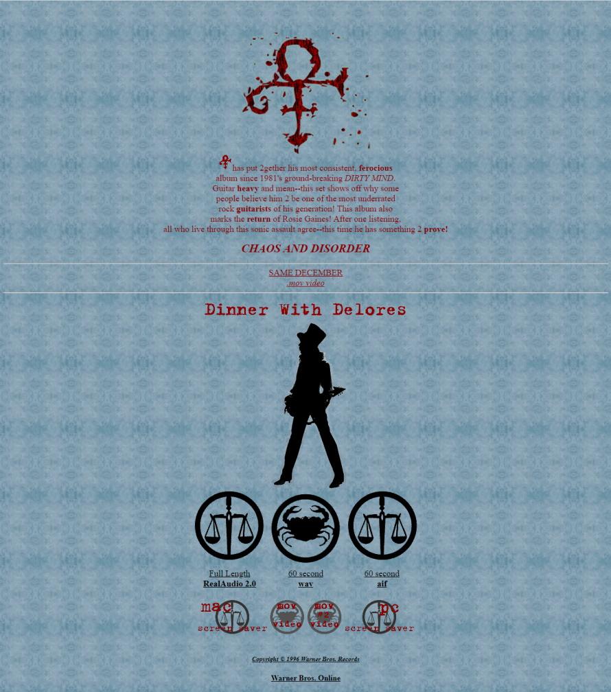 Prince - Chaos And Disorder - wbr.com/chaosanddisorder (wbr.com)