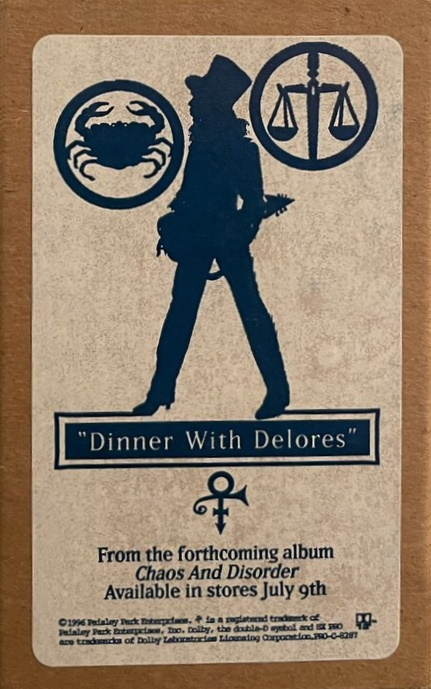 Prince - Dinner With Delores - Promo cassette (twitter.com)